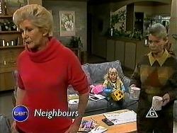 Madge Bishop, Sky Mangel, Helen Daniels in Neighbours Episode 1316