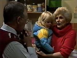 Harold Bishop, Sky Mangel, Madge Bishop in Neighbours Episode 1316