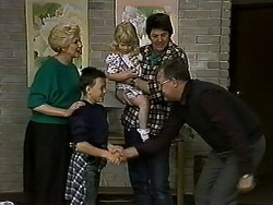 Madge Bishop, Toby Mangel, Sky Bishop, Joe Mangel, Harold Bishop in Neighbours Episode 1318