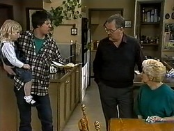 Sky Bishop, Joe Mangel, Harold Bishop, Madge Bishop in Neighbours Episode 1318