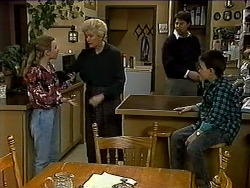 Gemma Ramsay, Madge Bishop, Joe Mangel, Toby Mangel in Neighbours Episode 1318