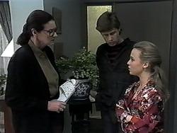 Dorothy Burke, Ryan McLachlan, Gemma Ramsay in Neighbours Episode 1319