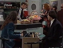 Gaby Willis, Mark Gottlieb, Ren Gottlieb, Rick Alessi in Neighbours Episode 2226