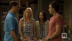 Matt Turner, Lauren Turner, Imogen Willis, Mason Turner  in Neighbours Episode 6791