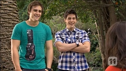 Kyle Canning, Chris Pappas, Kate Ramsay in Neighbours Episode 6796