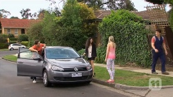 Josh Willis, Ruby Knox, Amber Turner, Chris Pappas in Neighbours Episode 6799