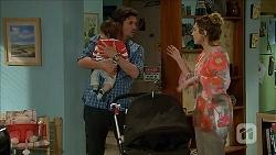Elliott Holmes, Jacob Holmes, Sonya Rebecchi in Neighbours Episode 6800