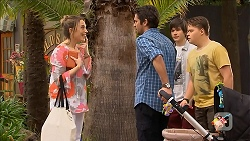 Sonya Rebecchi, Jacob Holmes, Bailey Turner, Callum Rebecchi in Neighbours Episode 6801