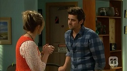 Sonya Mitchell, Jacob Holmes in Neighbours Episode 6804