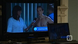 Nicole Livingstone as herself, Josh Willis in Neighbours Episode 6804