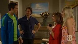 Josh Willis, Brad Willis, Terese Willis, Amber Turner in Neighbours Episode 6804