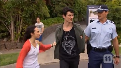 Imogen Willis, Josh Willis, Isaac Woods, Matt Turner in Neighbours Episode 6811