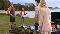 Mason Turner, Imogen Willis, Josh Willis, Amber Turner in Neighbours Episode 6812