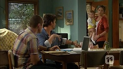 Toadie Rebecchi, Jacob Holmes, Nell Rebecchi, Sonya Mitchell in Neighbours Episode 6812