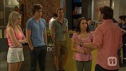 Amber Turner, Mason Turner, Mark Brennan, Imogen Willis, Brad Willis in Neighbours Episode 6813