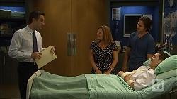 Dr Anthony Croker, Terese Willis, Brad Willis, Josh Willis in Neighbours Episode 6814
