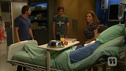 Brad Willis, Mason Turner, Terese Willis, Josh Willis in Neighbours Episode 6814