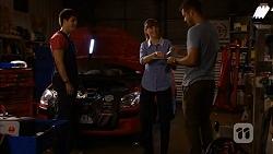 Chris Pappas, Danni Ferguson, Mark Brennan in Neighbours Episode 6815
