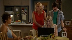 Mason Turner, Lauren Turner, Bailey Turner, Amber Turner in Neighbours Episode 6818