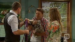 Toadie Rebecchi, Callum Jones, Sonya Mitchell in Neighbours Episode 6820