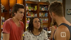 Mason Turner, Imogen Willis, Mark Brennan in Neighbours Episode 6821