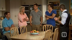 Matt Turner, Lauren Turner, Mark Brennan, Mason Turner, Toadie Rebecchi in Neighbours Episode 6822