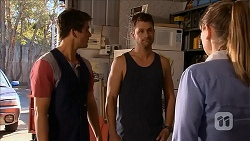 Chris Pappas, Mark Brennan, Danni Ferguson in Neighbours Episode 6825