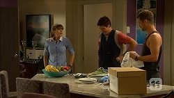 Danni Ferguson, Chris Pappas, Mark Brennan in Neighbours Episode 6825