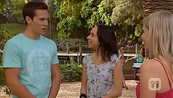 Josh Willis, Imogen Willis, Lauren Turner in Neighbours Episode 6829