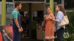 Chris Pappas, Sonya Mitchell, Patricia Pappas in Neighbours Episode 6830