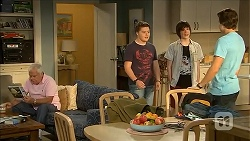 Lou Carpenter, Callum Jones, Bailey Turner, Mason Turner in Neighbours Episode 6830