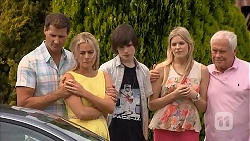 Matt Turner, Lauren Turner, Bailey Turner, Amber Turner, Lou Carpenter in Neighbours Episode 6830