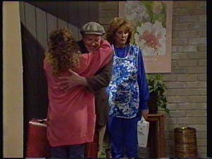 Charlene Mitchell, Dan Ramsay, Madge Bishop in Neighbours Episode 0328