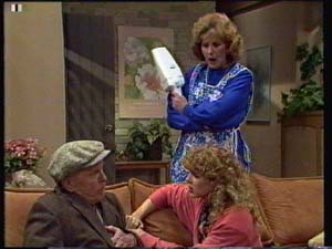 Dan Ramsay, Madge Bishop, Charlene Mitchell in Neighbours Episode 0328