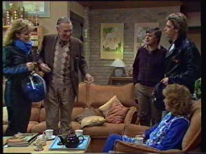 Dan Ramsay, Madge Bishop, Patty Collins, Shane Ramsay, Tom Ramsay in Neighbours Episode 0328