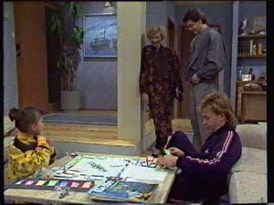 Lucy Robinson, Helen Daniels, Paul Robinson, Scott Robinson in Neighbours Episode 0328