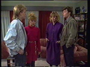 Charlene Mitchell, Jane Harris, Mike Young, Scott Robinson in Neighbours Episode 0328