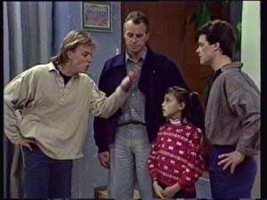 Scott Robinson, Jim Robinson, Lucy Robinson, Paul Robinson in Neighbours Episode 0329