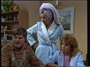 Tom Ramsay, Madge Bishop, Charlene Mitchell in Neighbours Episode 0330