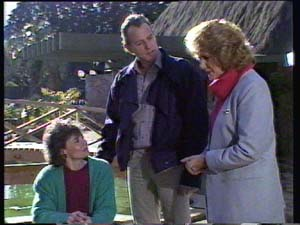 Ruth Wilson, Jim Robinson, Madge Bishop in Neighbours Episode 0331