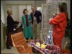 Helen Daniels, Ruth Wilson, Zoe Davis, Jim Robinson, Sam Cole in Neighbours Episode 0331
