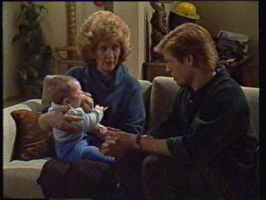Sam Cole, Madge Bishop, Clive Gibbons in Neighbours Episode 0334