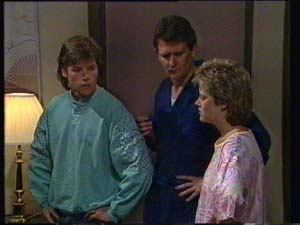 Daphne Clarke, Des Clarke, Mike Young in Neighbours Episode 0336