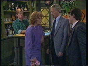 Madge Bishop, Ray Murphy, Paul Robinson, Clive Gibbons in Neighbours Episode 0337