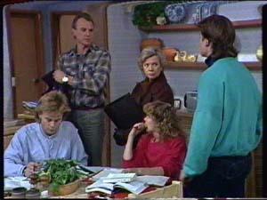 Scott Robinson, Jim Robinson, Helen Daniels, Charlene Mitchell, Mike Young in Neighbours Episode 0340