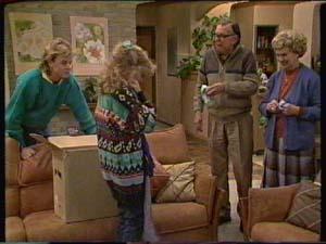 Charlene Mitchell, Scott Robinson, Edna Ramsay, Dan Ramsay in Neighbours Episode 0342