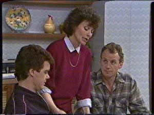 Paul Robinson, Ruth Wilson, Jim Robinson in Neighbours Episode 0342