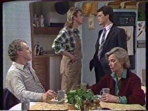 Jim Robinson, Shane Ramsay, Paul Robinson, Helen Daniels in Neighbours Episode 0347