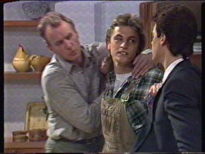 Jim Robinson, Shane Ramsay, Paul Robinson in Neighbours Episode 0347
