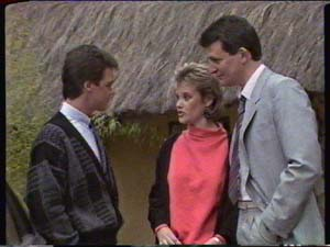 Daphne Clarke, Des Clarke, Paul Robinson in Neighbours Episode 0347